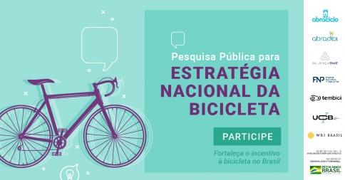 UCB em conjunto com oito organizações lança Pesquisa Pública para Estratégia Nacional da Bicicleta