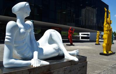 ARTE DE ADELIO SARRO NA CICLOVIA DO RIO PINHEIROS